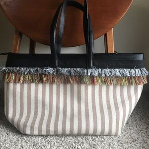 NWOT Fabletics Tassel Gym Bag Tote